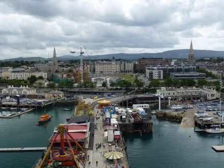 View of Dun Laoghaire from Ferris Wheel