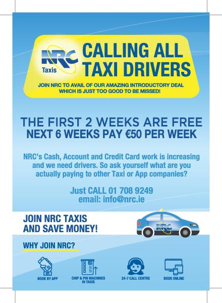 NRC Taxis is looking for drivers to join